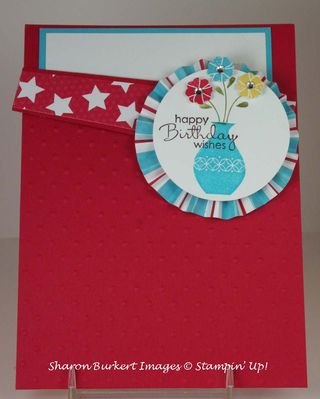 Button Buddies vase pocket card