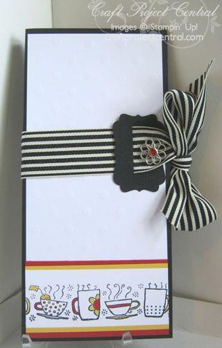 Morning Cup Tea Bag & Gift Card Holder