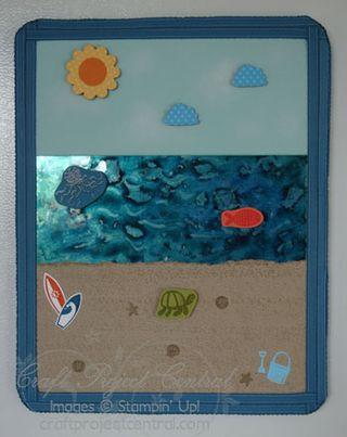 Beach Scene Magnet Board