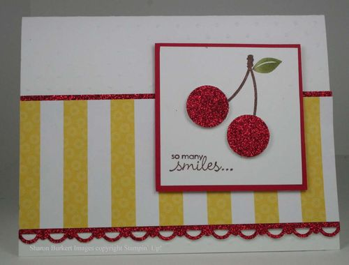 Button Buddies Mailable cherry card