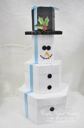 Snowman Gift Box Tower