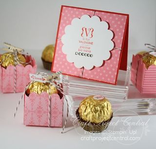 Mini Circle Valentine Box & Card