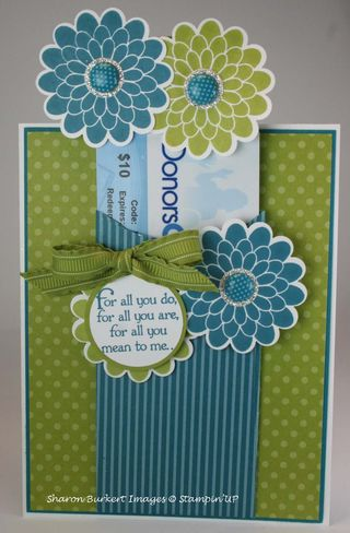 Flower card with gift