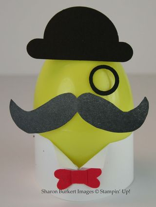Egg with many moustaches
