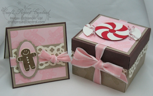 Gingerbread Treat Box & Card