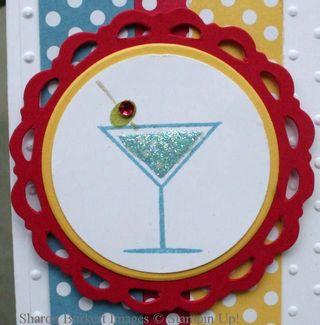Happy Hour Blue Martini close