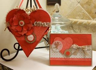 Valentine Petal Pouch & Card