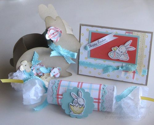 Easter Bunny Treat Holders & Card