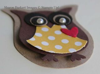 Owl bookmark card close up