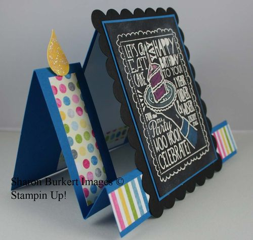 WooHoo Single stamps chalkboard color side