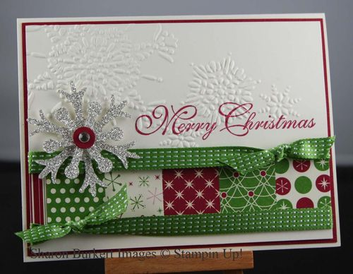 Gumball Green ribbon christmas card