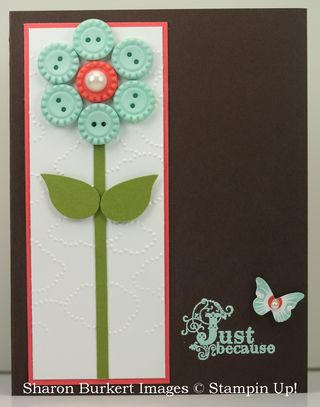 Button flower card