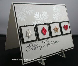 Merry Minis glitter cardside