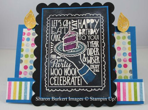 WooHoo Single stamps chalkboard color