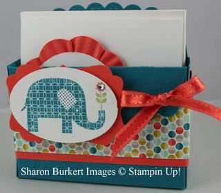 Patterned Occasions 3 x 3 box & card