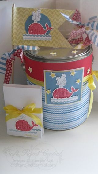 Baby Gift Pail & Thank You Notes