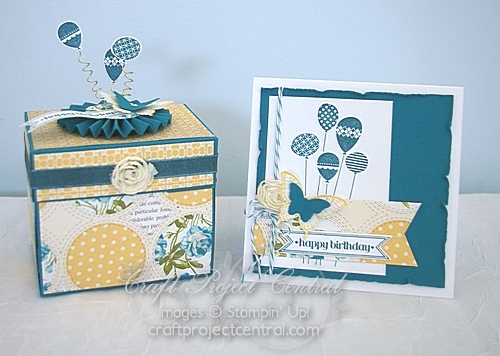 Birthday Explosion Box & Card