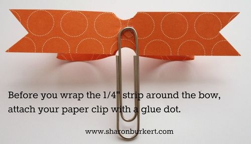 Paper bow paper clip attached