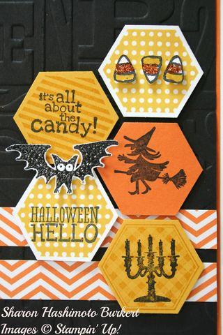 Halloween Hello Six Sided Sampler close