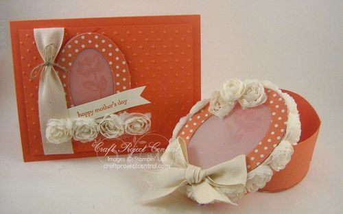 Oval Box & Card Set for Mom