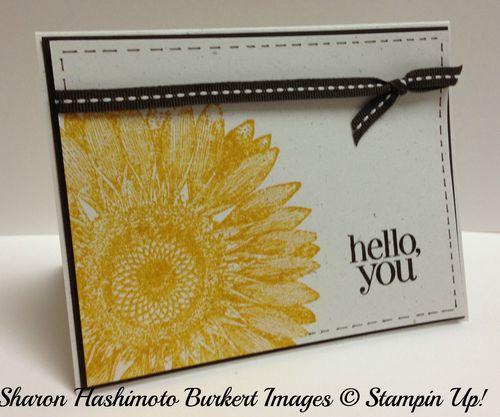 Sunflower Hello side