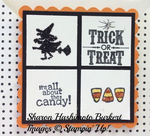 Halloween Hello envelope card front