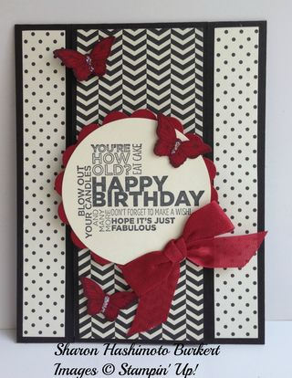 As The Ink Dries Modern Medley Birthday Card