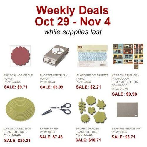 Weekly deal 10-29-11-4