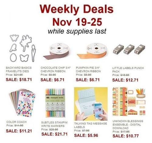 Weekly deal 19-25