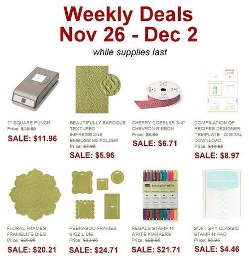 Weekly deal nov 26-Dec 2