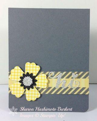 Washi flower front
