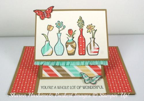Vivid Vases easel card open
