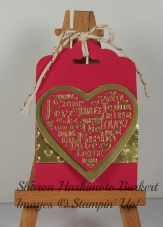 Scalloped Tag Language of Love candy holder