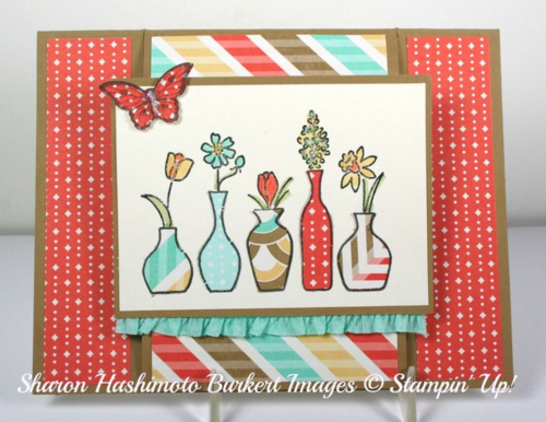 Vivid Vases easel card closed