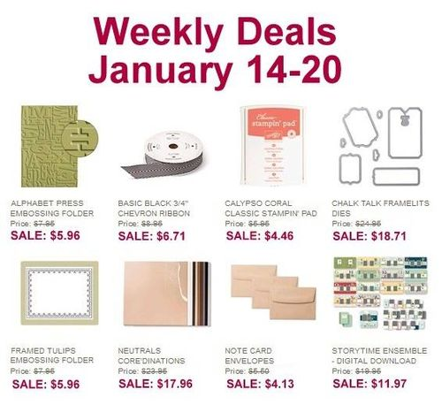 Weekly deal Jan 14-20