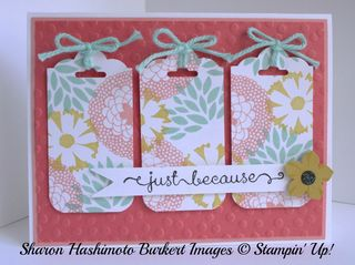 3 tag petal parade card