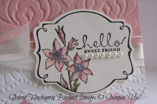 You're Lovely Blushing Bride label