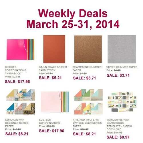 Weekly deal March 25-31