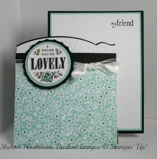 You're Lovely pocket card out