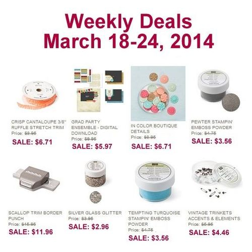 Weekly deal 3-18 to 3-24