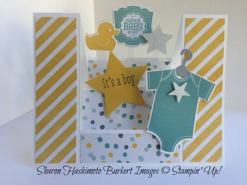 Something for Baby Center Stair step card 1