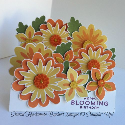 Flower Patch stair step card front