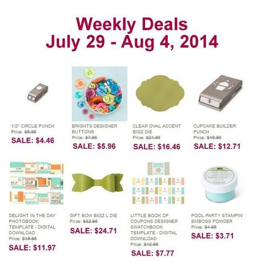 Weekly deal 7:29-8:4