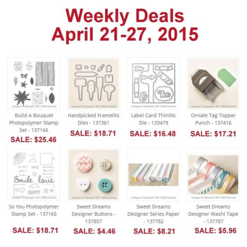 Weekly deal 4:21-4:27