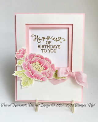 Birthday Blooms with Square frames