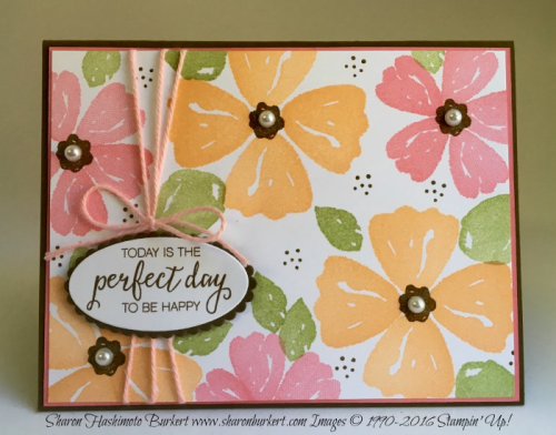 Bunch of Blossoms stamp set, Blossoms Builder punch, #stampinup, www.sharonburkert.com