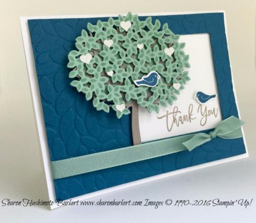 Thoughtful Branches stamp set www.sharonburkert.com #stampinup