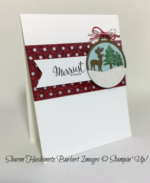 Merriest Wishes stamp set, Merry tags Framelits, #stampinup, www.sharonburkert.com
