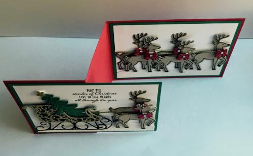 Santa's Sleigh bundle. www.sharonburkert.com #stampinup