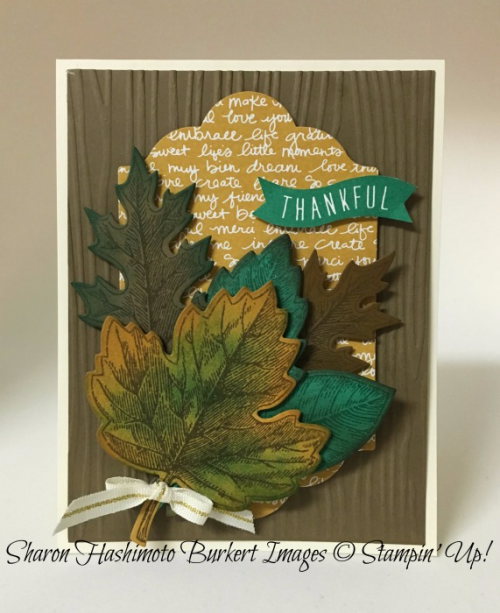 Vintage Leaves stamp set, www.sharonburkert.com, #stmapinup
